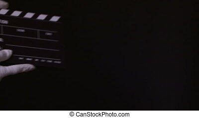 kołatka, clapperboard, film