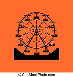 koło, ferris, ikona