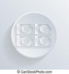 koło, halabarda, dolar, shadow., ikona