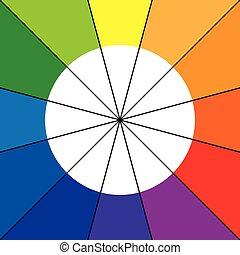 koło, kolor, dwanaście, kolor, koło, albo