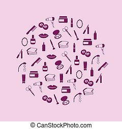 koło, kosmetyki, ikony