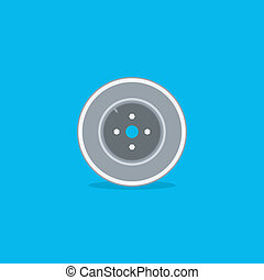 koło, naprawa, ikona