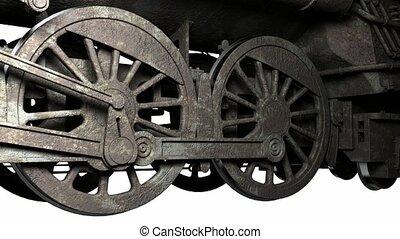 koło, od, starożytny, pociąg