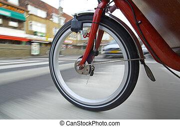 koło, przędzenie, rower