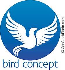 koło, ptak, pojęcie, projektować