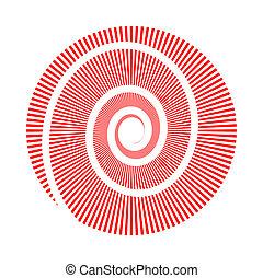 koło, wizerunek, wektor, spirala