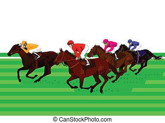 koń biegi, derby