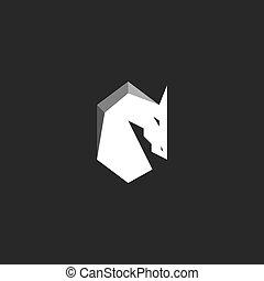 koń, graficzny, sylwetka, figura, abstrakcyjny, ogier, głowa, ilustracja, mustang, czarnoskóry, biały, grzywa, logo
