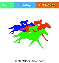 koń jadą, ikona