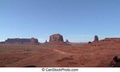 koń, jego, kowboj, perspektywa, dolina pomnika, zmarszczenie