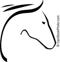 koń, kontur