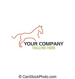 koń, logo., ilustracja, w, wektor, format