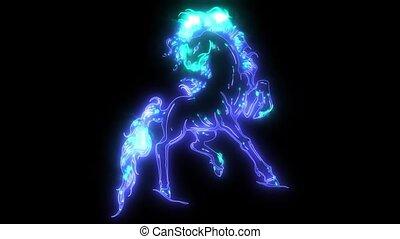 koń, ożywienie, sylwetka, wyścigi