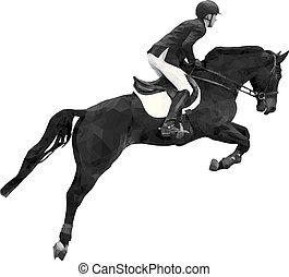 koń, sport, jeździec, człowiek, jeździec