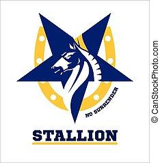 koń, stallion., mascot., horse.