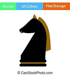 koń, szachy, ikona