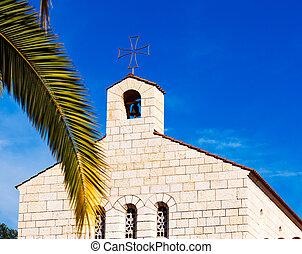 kościół, od, mnożenie, front, w, tabgha