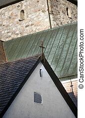 kościelny krzyż, średniowieczny