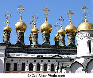 kościoły, cathedrals., kopuły, kremlins