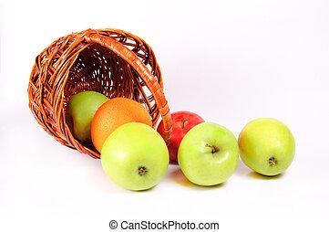 koš, jablko