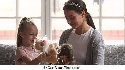 koźlę, mamusia, interpretacja, zabawki, piękny, figlarny, ...