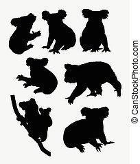 Koala animal silhouettes