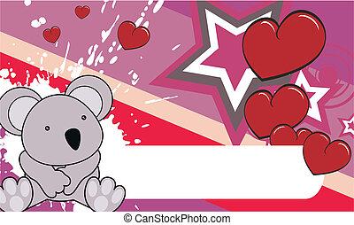 koala baby cartoon background in vector format