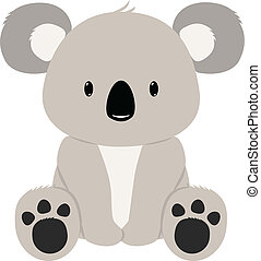 koala bear clip art and stock illustrations 2 315 koala bear eps rh canstockphoto com clipart koala bear free Koala Bear Clip Art Black and White