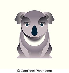 Koala bear, stylized geometric animal low poly design vector Illustration