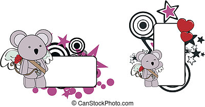 koala, bebê, caricatura, copyspace