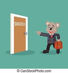koala business and succes door