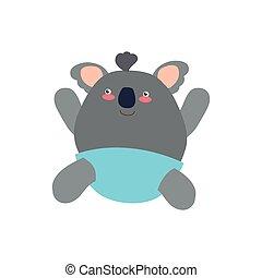 Koala cute animal little icon. Vector graphic