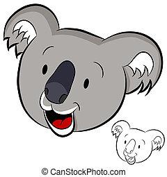 koala, faccia