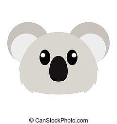 Koala head cartoon