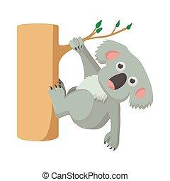 Koala icon, cartoon style
