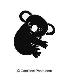 Koala icon, simple style