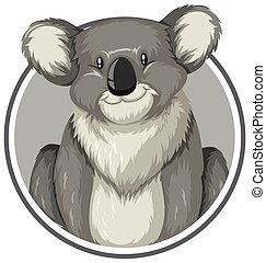 Koala in a circle