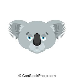 Koala Nausea emoji. koala bear Sick emotions avatar. Beast ill. Vector illustration