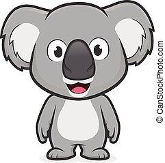 Koala standing - Clipart picture of a koala cartoon ...
