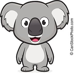 koala, standing