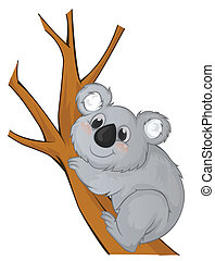 Koala Vector Cartoon Illustration