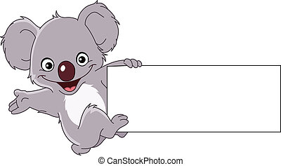 Koala with sign