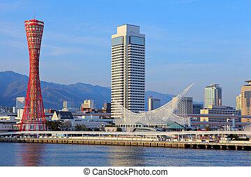 Kobe city in Japan