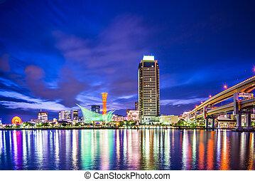 Kobe, Japan at Meriken Park and Kobe Port Tower.