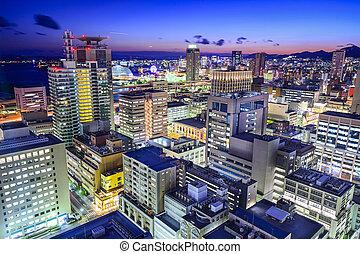 Kobe, Japan City Skyline