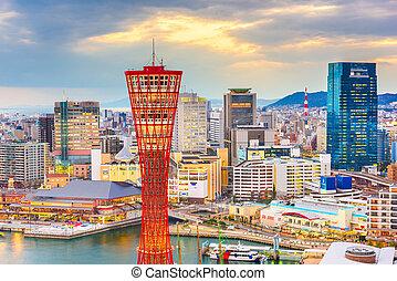 Kobe, Japan Cityscape - Kobe, Hyogo, Japan cityscape at the ...