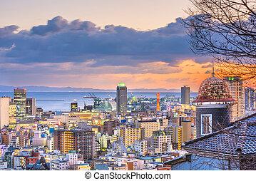 Kobe, Japan Cityscape - Kobe, Hyogo, Japan cityscape from ...
