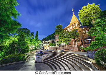 Kobe, Japan Foreigners Homes - Kobe, Japan at the historic...