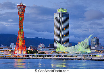 Kobe, Japan - KOBE, JAPAN - JULY 12: Kobe Port Tower and ...
