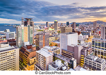 Kobe, Japan Motomachi Cityscape